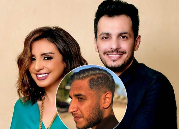 أنغام وزوجها الموزع الموسيقي أحمد إبراهيم ونجلها عمر
