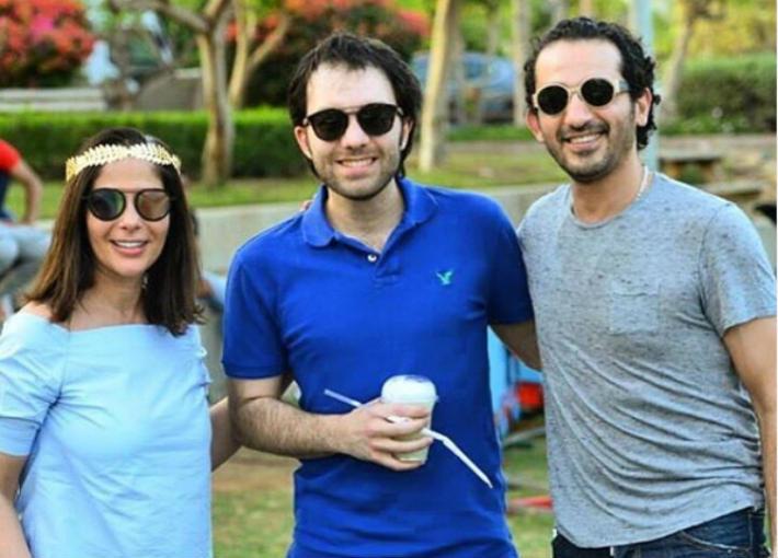 شريف رمزي مع أحمد حلمي ومنى زكي