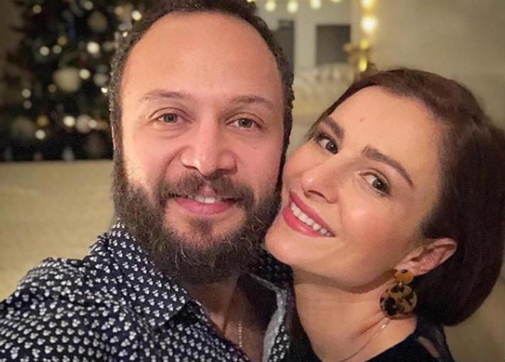 مكسيم خليل وزوجته