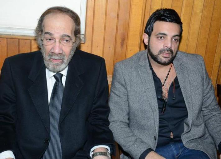 محمود ياسين وابنه عمرو