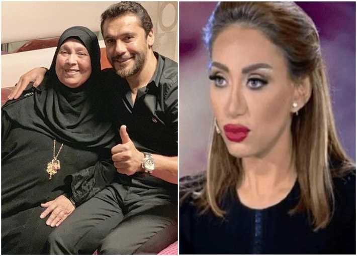 ريهام سعيد وأحمد حسن ووالدته