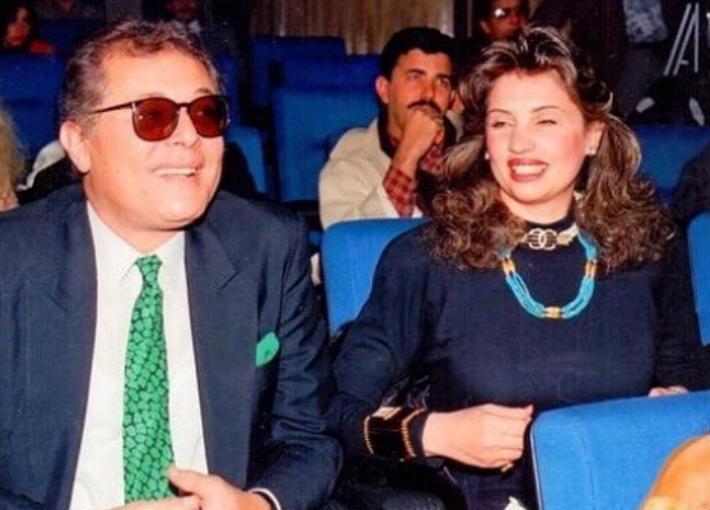 الراحل محمود عبد العزيز وزوجته الأولى جيلان