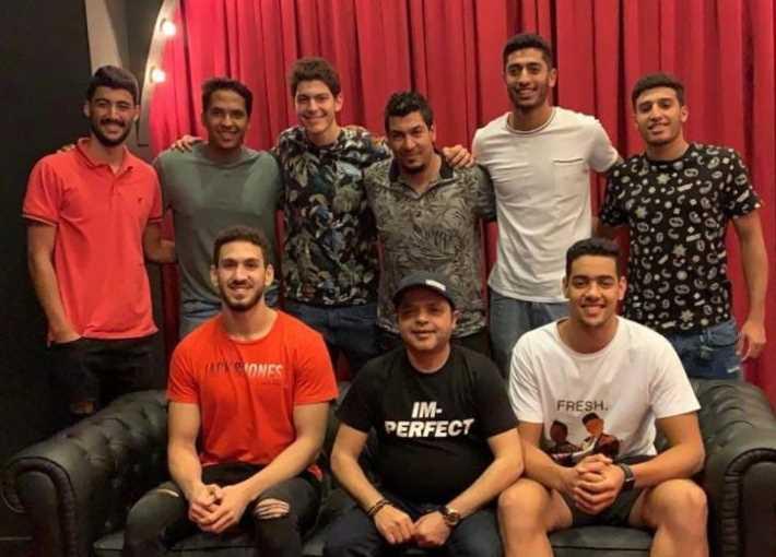 هنيدي وأبطال منتخب كرة اليد