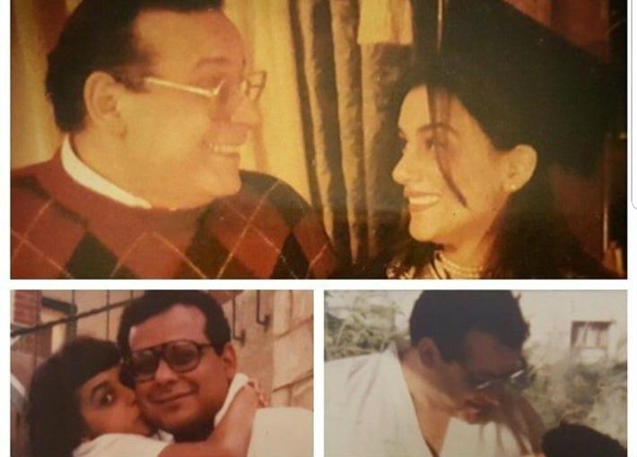 إنجي المقدم ووالدها