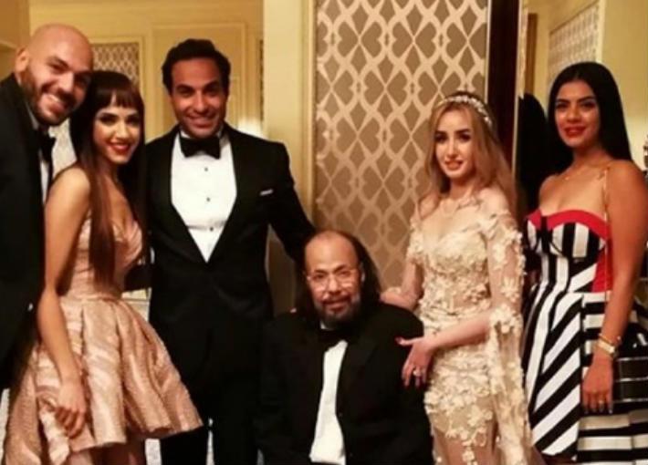 طلعت زكريا في آخر ظهور له في حفل زفاف أحمد فهمي وهنا الزاهد