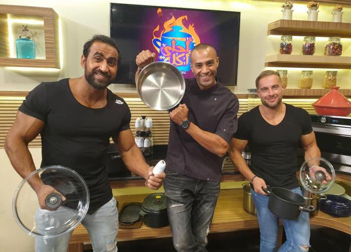 علاء الشربيني مع كابتن الجيم منير وكابتن كريم