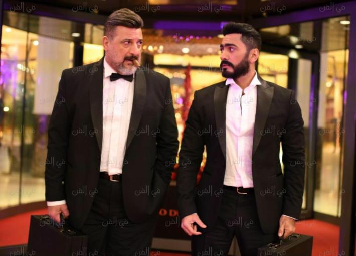 """تامر حسني وخالد الصاوي من فيلم """"الفلوس"""""""