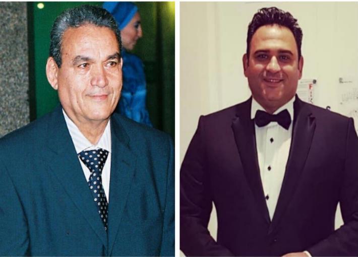 أكرم حسني ووالده كابتن حسني عبد الرحيم