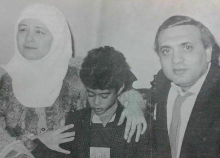 هيثم أحمد زكي، مع والدته وزوجها