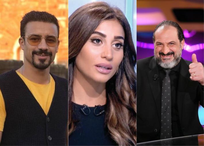 خالد الصاوي ودينا الشربيني وأحمد داوود