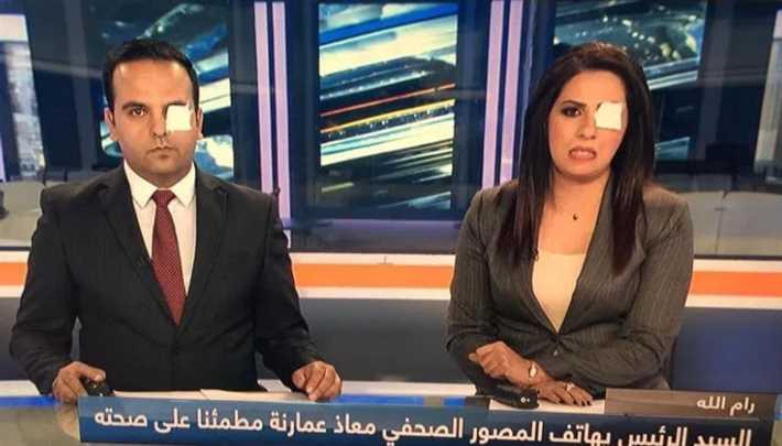 مذيعان فلسطينيان