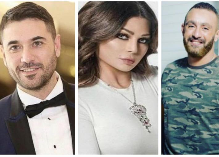 أحمد السقا وهيفاء وهبي وأحمد عز