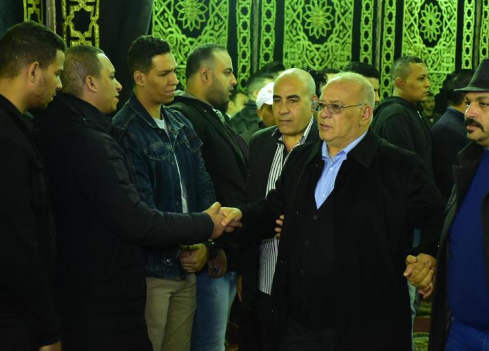 صلاح عبد الله في عزاء شعبان عبد الرحيم