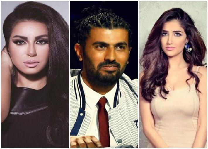 مي عمر ومحمد سامي ونسرين أمين