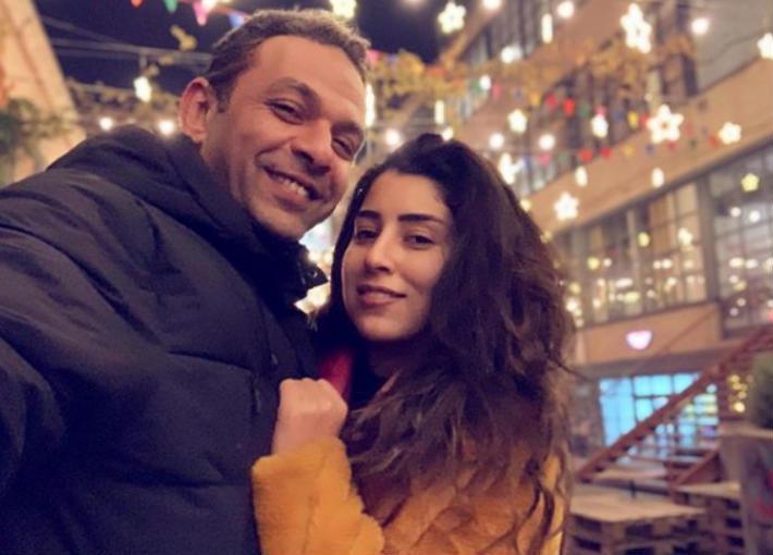 أيتن عامر وزوجها