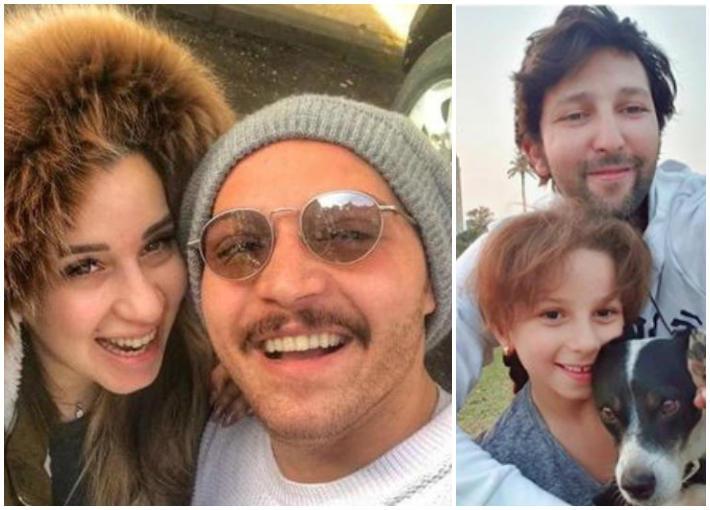 لارا السكري ووالدها- محمود حجازي وزوجته أسما شريف منير