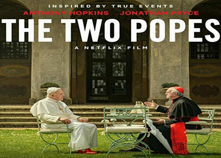 الملصق الدعائي لفيلم the two popes