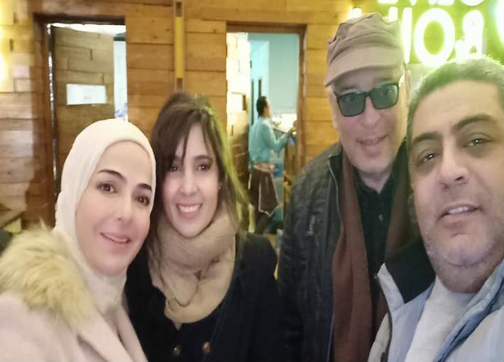علاء عبد الخالق ومنى عبد الغني وحنان والمنتج وائل غنيمي