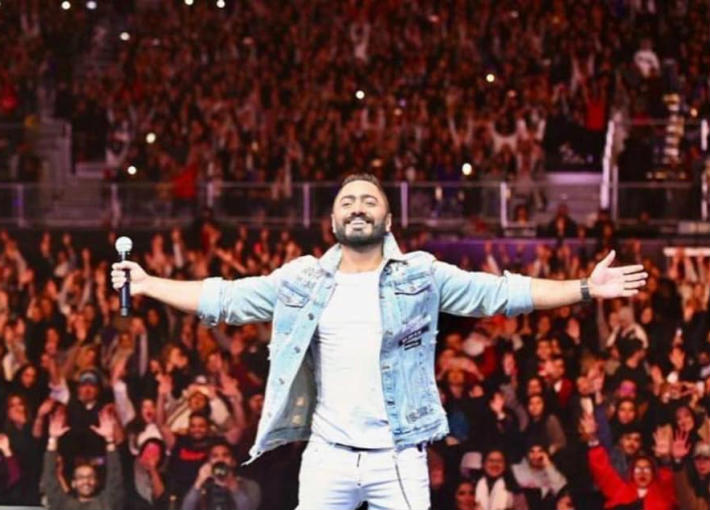 تامر حسني في حفل الرياض