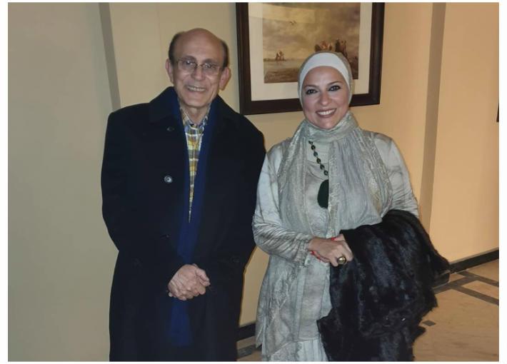 دعاء فاروق ومحمد صبحي