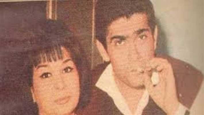 يوسف فخر الدين مع زوجته نادية سيف النصر