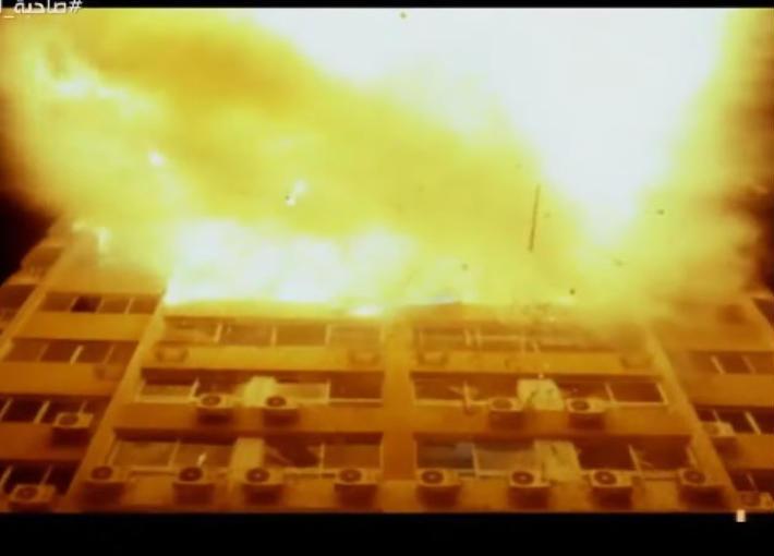 """مشهد التفجير في """"واحد من الناس"""""""