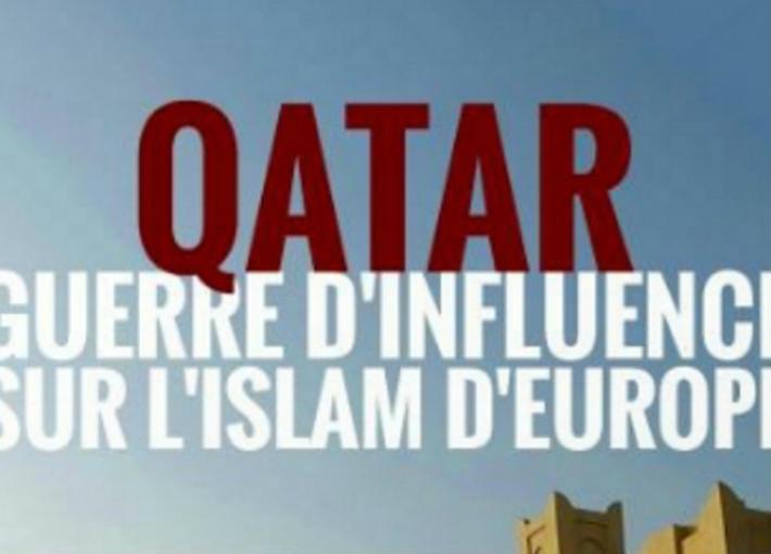 """الملصق الدعائي لفيلم """"قطر حرب النفوذ على الإسلام فى أوروبا"""""""
