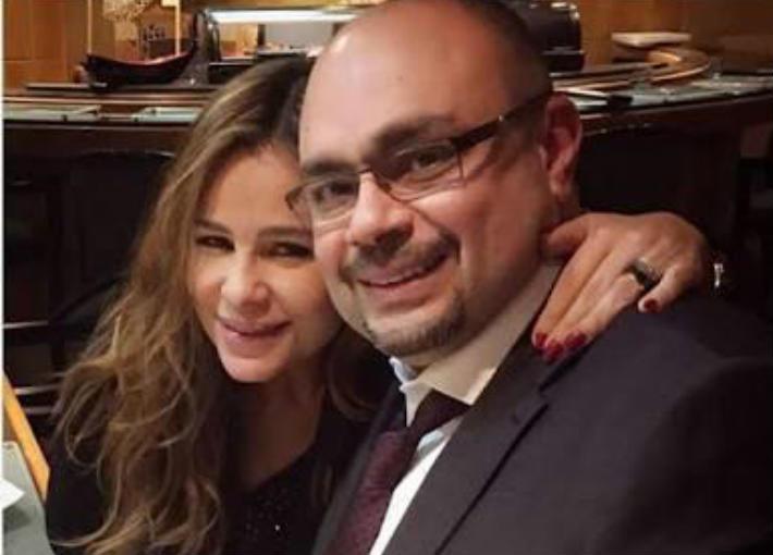 كارول سماحها وزوجها وليد مصطفى