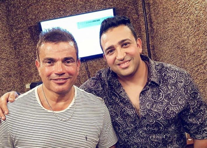 تامر حسين مع عمرو دياب