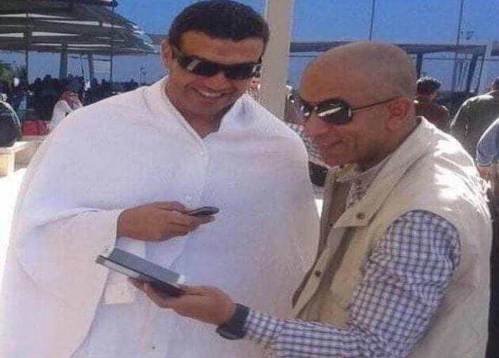 أحمد المنسي وصديقه رأفت بلاط