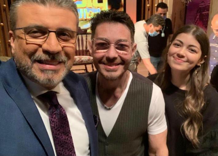 ليلى وأحمد زاهر وعمرو الليثي