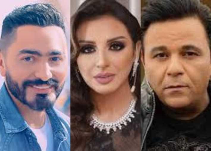 محمد فؤاد وأنغام وتامر حسني