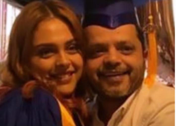 محمد هنيدي وابنته فريدة