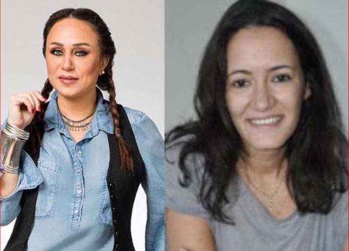مريم أبو عوف وإنجي علي
