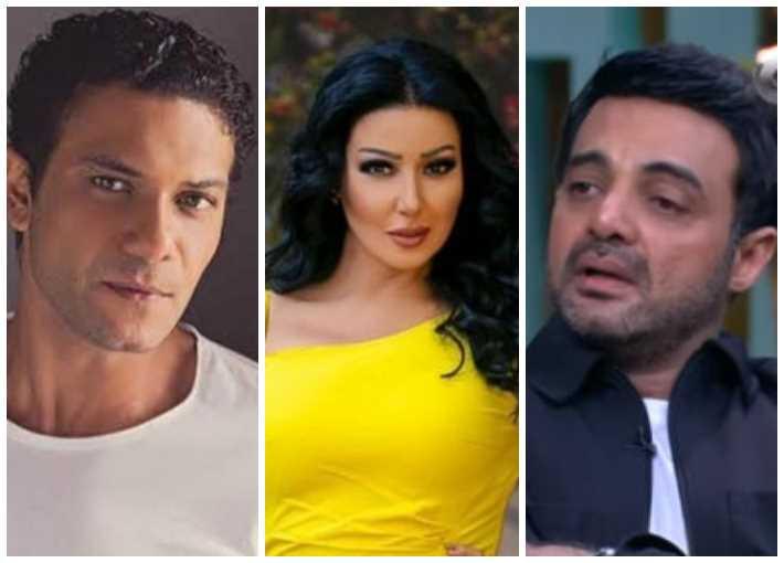 سمية الخشاب وآسر ياسين وعمرو محمود ياسين
