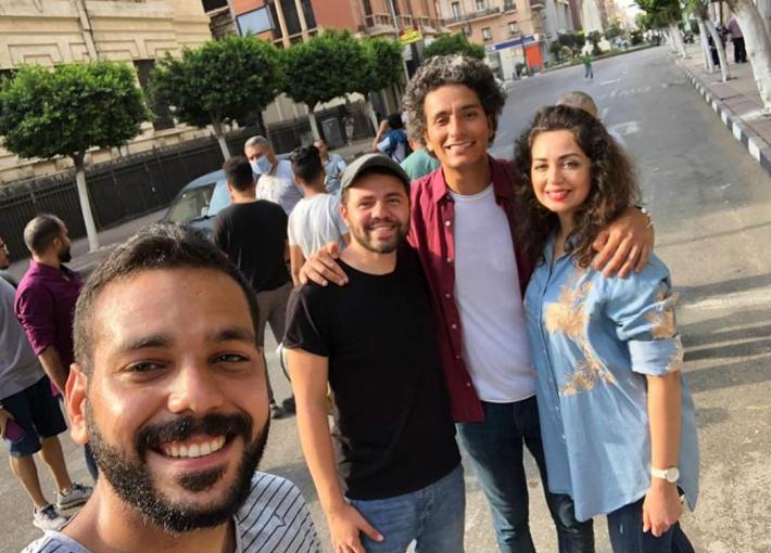هبة مجدي ومحمد محسن من كواليس الأغنية