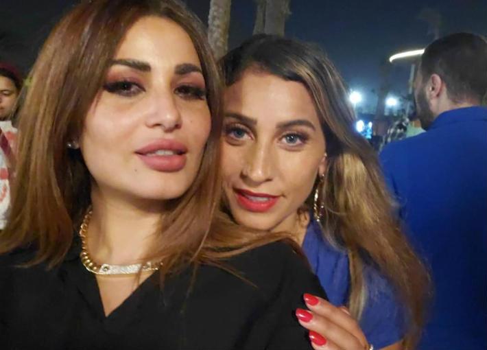 دينا الشربيني وزوجة الفيشاوي