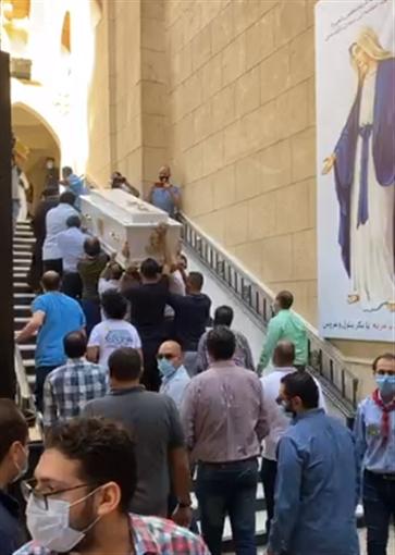 وصول جثمان المنتصر بالله إلى إحدى كنائس المهندسين