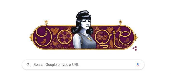 """جوجل يحتفل بذكري ميلاد معبودة الجماهير """" شادية """" - صورة"""