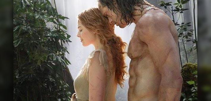 مارجو روبي وأليكساندر سكارسجارد في The Legend of Tarzan