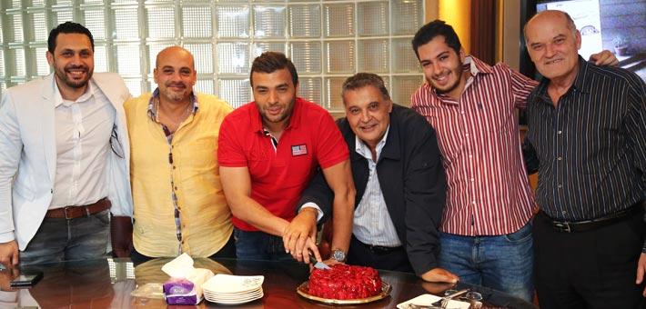 رامي صبري ومحسن جابر يحتفلان بالتحضير للألبوم الجديد في مزيكا