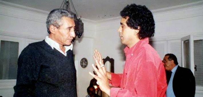 عبدالرحمن الأبنودي ومحمد منير