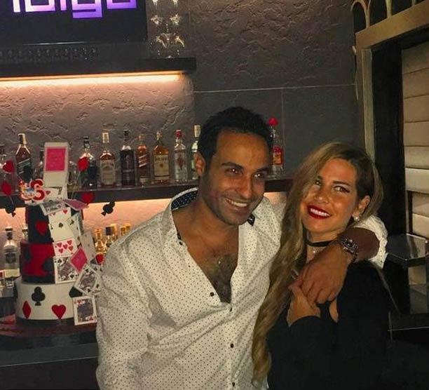 منة حسين فهمي وأحمد فهمي في عيد الميلاد