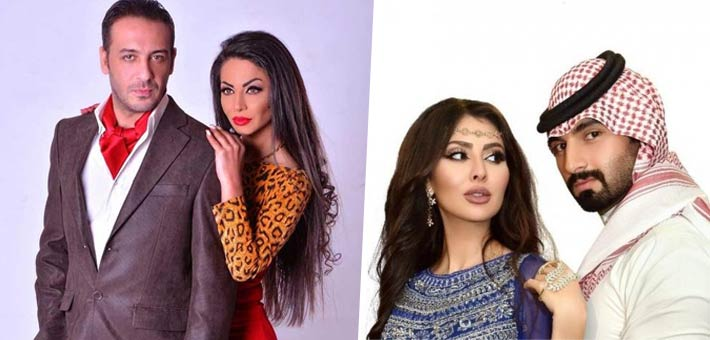مريم حسين وزوجها فيصل الفيصل و دوللي شاهين وزوجها باخوس علوان