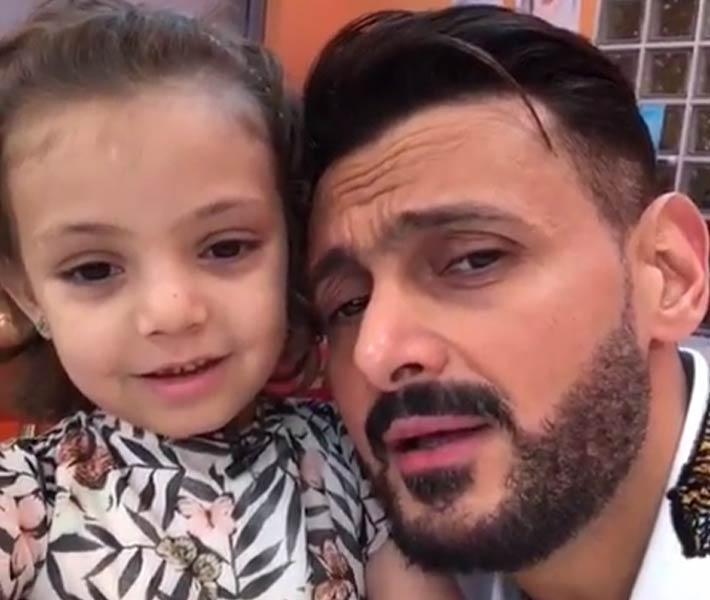 بالفيديو رامز جلال يغني مع الطفلة فريدة تتر برنامجه رامز