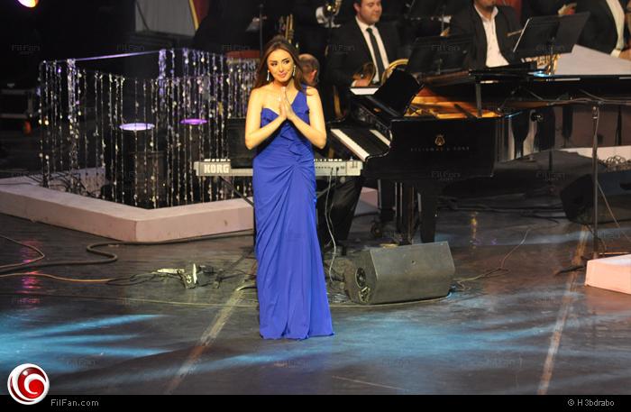 أنغام على خشبة المسرح الكبير بدار الأوبرا المصرية ضمن فعاليات مهرجان الموسيقى العربية