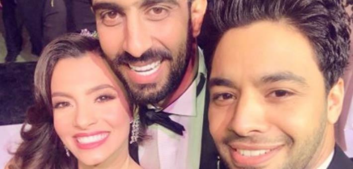 أحمد جمال مع كارمن سليمان وزوجها