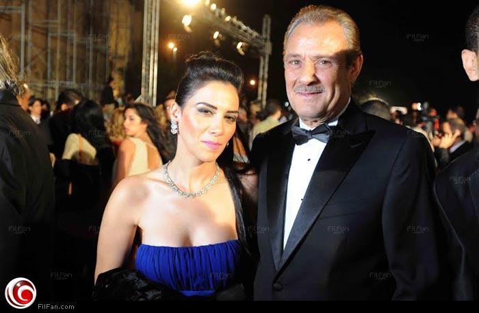 فاروق فيشاوي مع الممثلة سلمى ياقوت في مهرجان القاهرة السينمائي