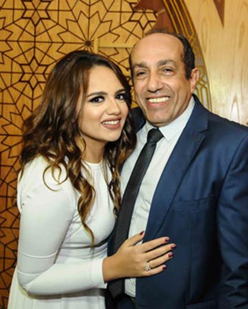 أحمد صيام وابنته بسنت