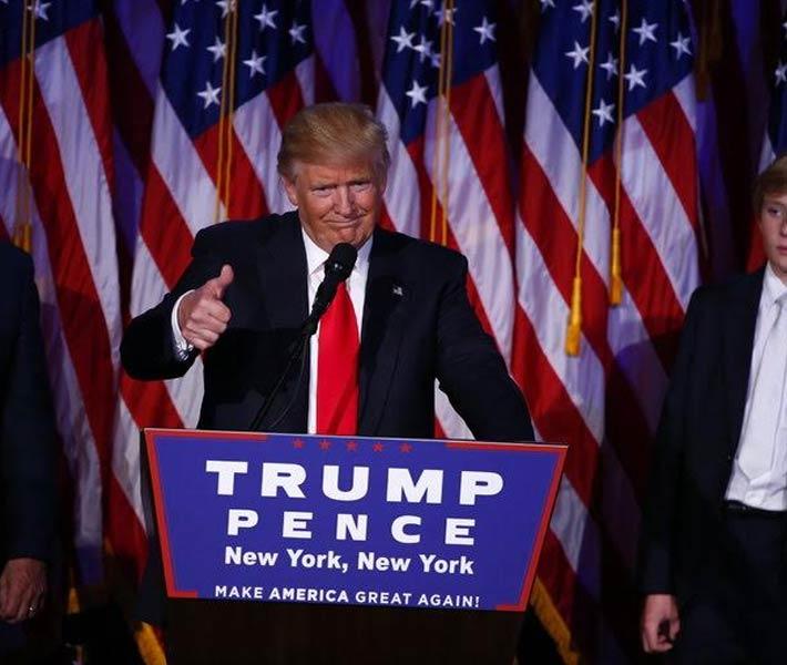 دونالد ترامب في خطاب النصر